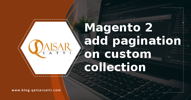 Magento 2 add pagination custom collection