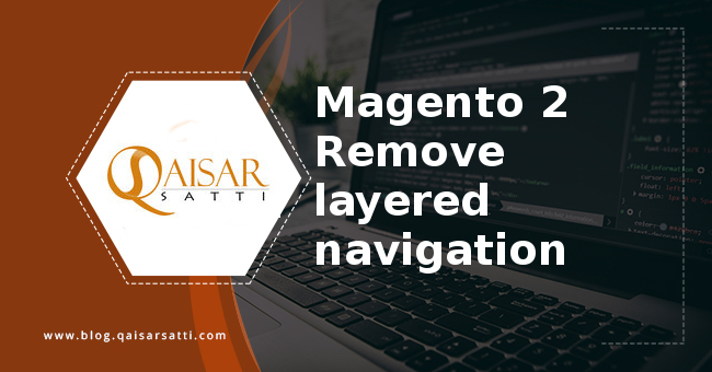 Magento 2 remove layered navigation
