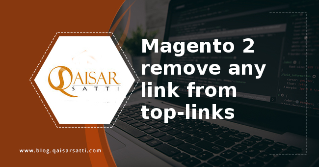 Remove any link  from top links Magento 2