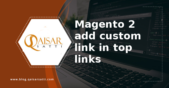 Magento 2 add custom link top links
