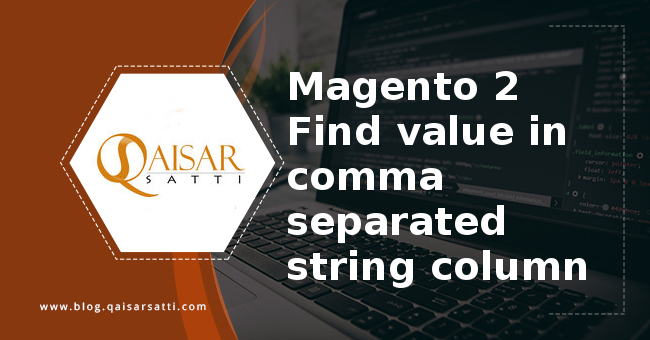 Magento 2 Find value comma separated string column