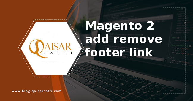 Magento 2 add remove footer link