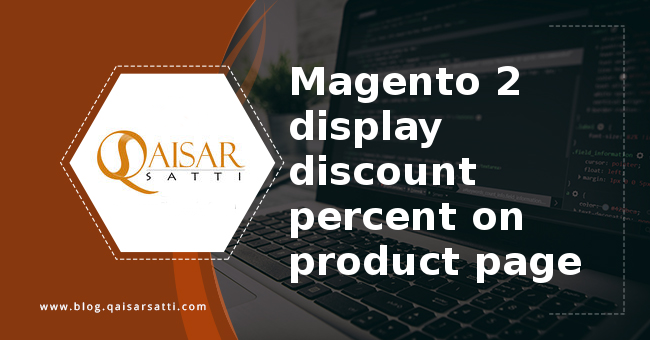 Magento 2 display discount percent product page