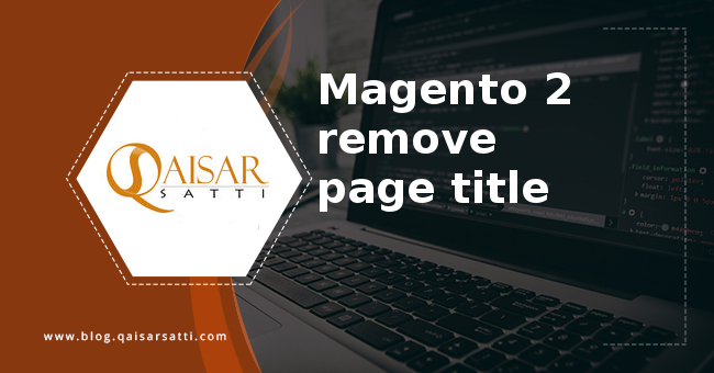 Magento 2 remove page title