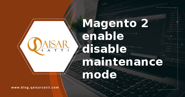 Magento 2 enable disable maintenance mode