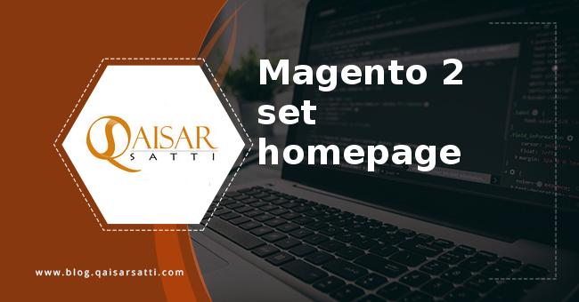 Magento 2 set homepage