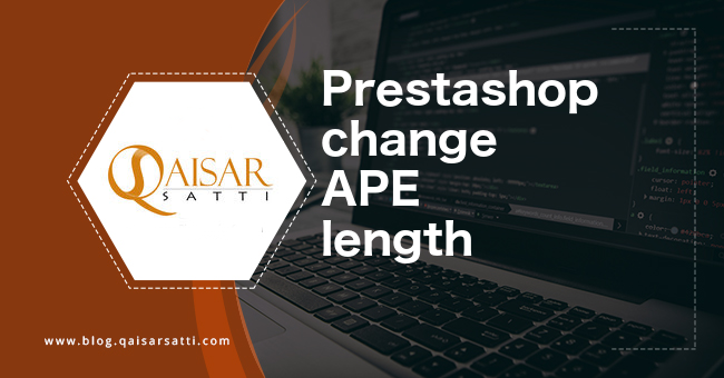 PrestaShop change APE length