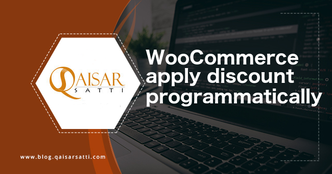 WooCommerce apply discount programmatically