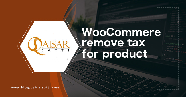 WooCommere remove tax for product