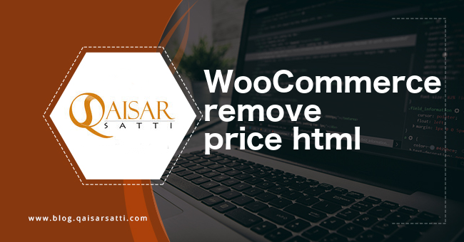 WooCommerce remove price html